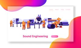 Metallurgy Industry Set. Ore Mining, Molten Steel Pouring in Form, Pipe Production Factory Workshop. Steel Working Process. Metallurgy Industry Working Process stock illustration