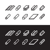 Metallurgy products icons set. Metal vector illustration. Metallurgy products icons set. Metal products set of vector illustration stock illustration