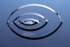 Metallvår i vatten Arkivfoton