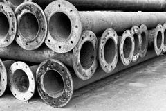 Metallvattenrøret Arkivbild