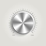 Metallvektorvolumen-Musiksteuerung Lizenzfreie Stockfotos