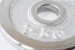Metallvikt av en kg-closeup Royaltyfri Bild