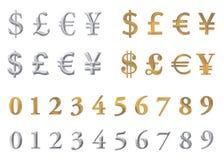 Metallwährungen vektor abbildung