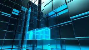 Metallwürfel gründete Gebäude Lizenzfreies Stockbild