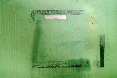 Metallwand, Grün, Detail Lizenzfreies Stockbild