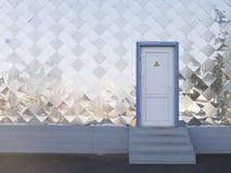 Metallwand mit Tür Lizenzfreies Stockbild