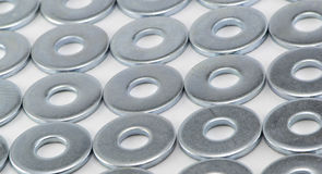 Metallwaschmaschinen lizenzfreie stockfotos