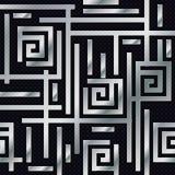 Metallweisen-nahtloses Muster Stockbilder