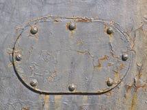 Metallyttersida med rivets Arkivfoton