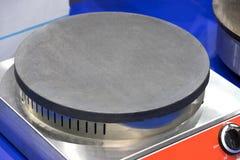 Metallyttersidan av matlagningplattan arkivbilder