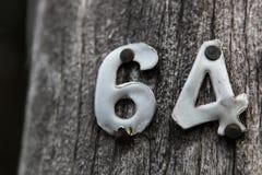 Metallzahlen 64 Lizenzfreie Stockfotos
