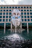Metalmorphosis Mirror Fountain by, David Černý Royalty Free Stock Photo