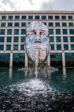 Metalmorphosis Mirror Fountain by, David Černý Royalty Free Stock Photo