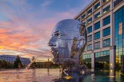 Metalmorphosis-Statue Charlotte nc Lizenzfreie Stockfotografie