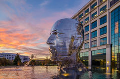 Metalmorphosis statue charlotte nc Royalty Free Stock Photography
