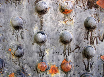 metalowe nity rdzewiejący Zdjęcia Stock