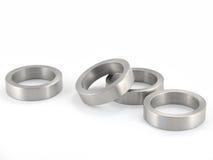 metalowe pierścienie rozproszonych Fotografia Stock