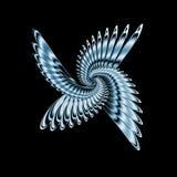 metalowe skrzydła Zdjęcia Stock