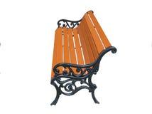 metalowy ogrodniczego drewniany siedzenia Zdjęcia Stock