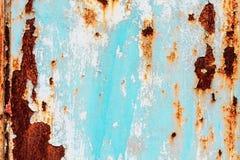 metalowy tła farby zardzewiały obieraj konsystencja white Obrazy Stock