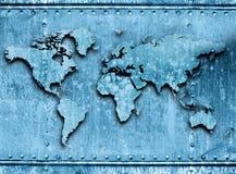 metalowy świata Obrazy Stock
