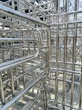 Metals and aluminum steel frame royalty free stock photo