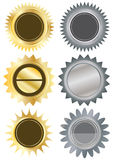 Metals Circle Blank Stickers_eps Royalty Free Stock Photography