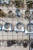 Metalschlauchclips. lizenzfreie stockfotos