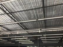 Metalsheet屋顶在工厂 库存照片