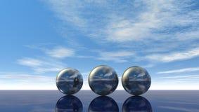 Metalspheres Stockbilder