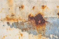 Metalu żelaza rdza z obieranie farby tłem zdjęcie royalty free