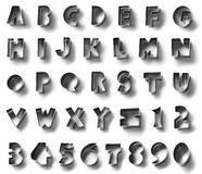 Metalu abecadła symbol, odizolowywający w białym tle Zdjęcia Royalty Free
