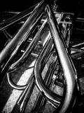 Metalu abstrakta drymby Obraz Stock