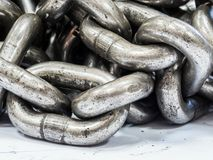 metalu aliażu stali łańcuchy dla przemysłowego use, bardzo silni Zdjęcie Stock