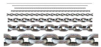 metalu aliażu stali łańcuchy dla przemysłowego use, bardzo silni Fotografia Royalty Free