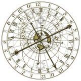 Metalu Astronomiczny zegar royalty ilustracja