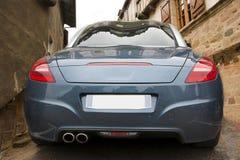 Metalu błękita sportowy samochód Zdjęcie Royalty Free