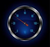 metalu błękitny termometr Obraz Stock