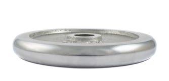Metalu barbell talerz odizolowywający Obraz Royalty Free