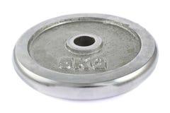 Metalu barbell talerz odizolowywający Zdjęcie Royalty Free