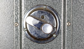 Metalu bezpieczeństwa depozytu kędziorek z bliska Zdjęcia Royalty Free