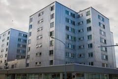 Metalu budynek w Alaska Zdjęcia Stock