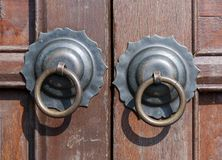 Metalu ciągnienia pierścionku rękojeść Fotografia Royalty Free