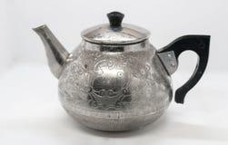 Metalu czajnik z wzorem Zdjęcia Royalty Free