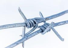 Metalu drut kolczasty Fotografia Stock