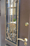 Metalu drzwi Obrazy Stock
