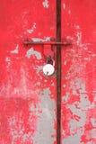 Metalu drzwi z kędziorkiem Zdjęcia Stock