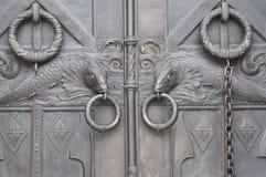 Metalu drzwi z ryba Fotografia Royalty Free