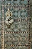 Metalu drzwiowy knocker fotografia royalty free
