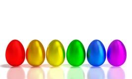 Metalu Easter jajka Fotografia Royalty Free